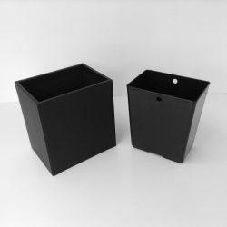 Black Leather Wastebasket And Liner