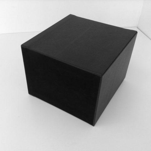Black Leather Wastebasket Bottom View