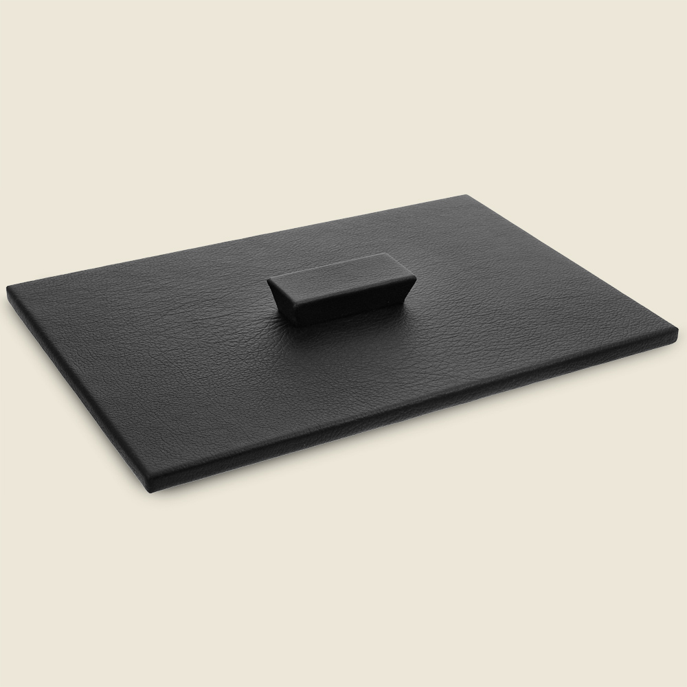 Leather Letter Tray Cover Hide Papers, Black Leather Desk Letter Tray