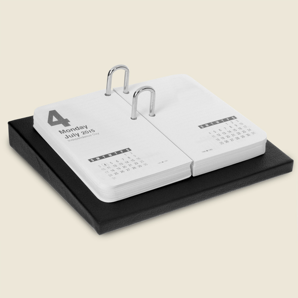 Book Style Leather Desk Calendar Luxury Hand Wrapped