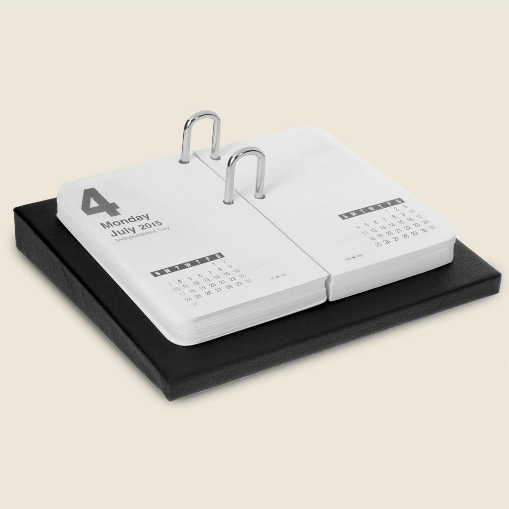 Book Style Leather Desk Calendar Luxury Hand Wrapped Calendar Holder Prestige Office