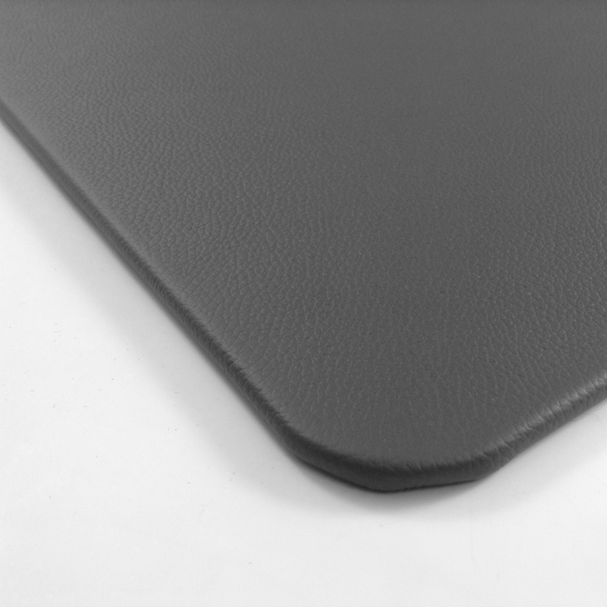 Awesome Grey Desk Pad With White Leather