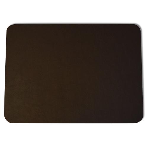 Brown Vinyl Desk Pad Hand Wred Luxury Blotter Prestige Office