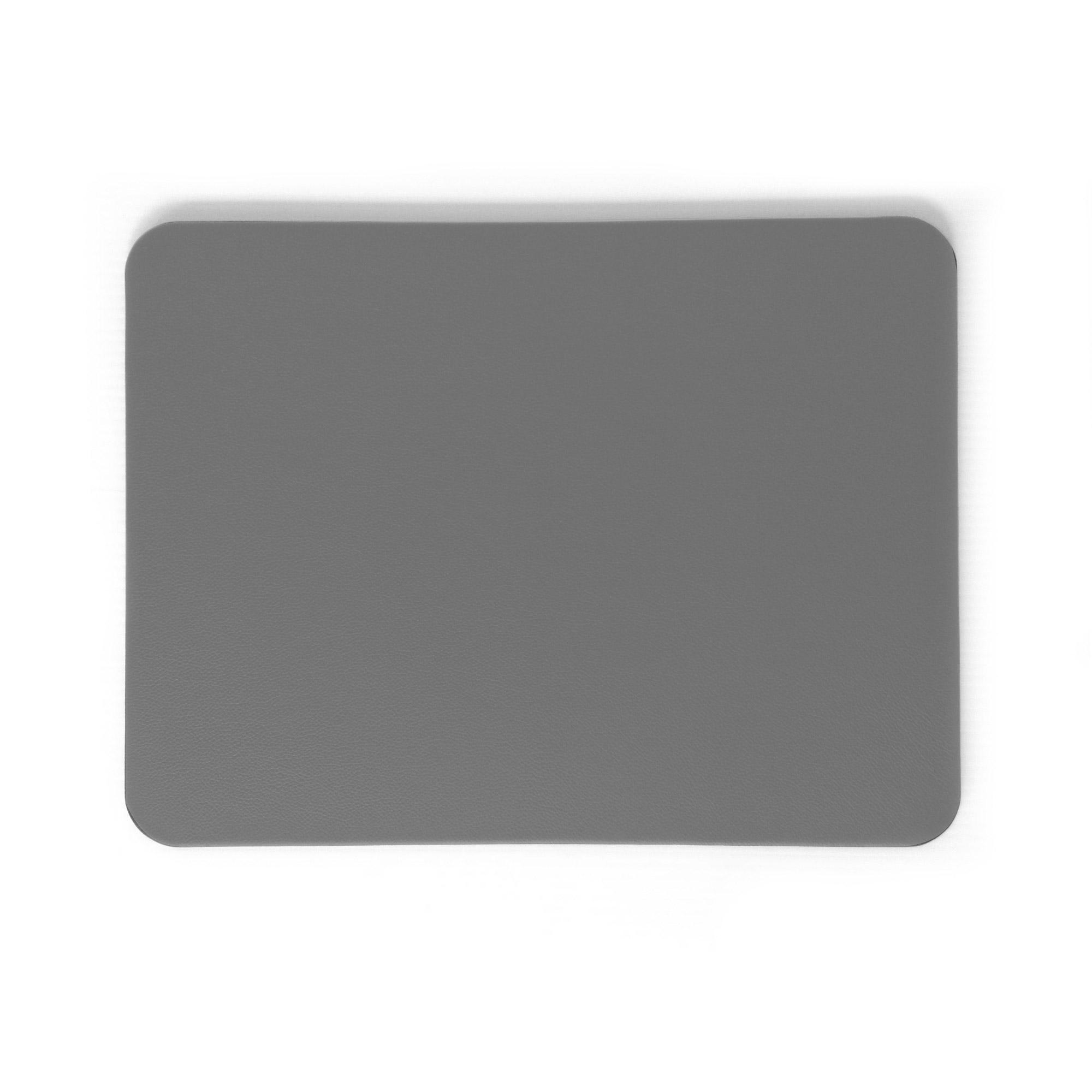 Grey Leather Desk Blotter Pad Prestige Office Accessories