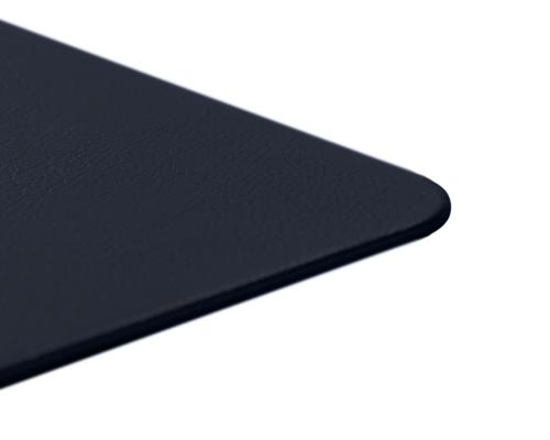 Navy Blue Leather Desk Pad Genuine Leather Blotter