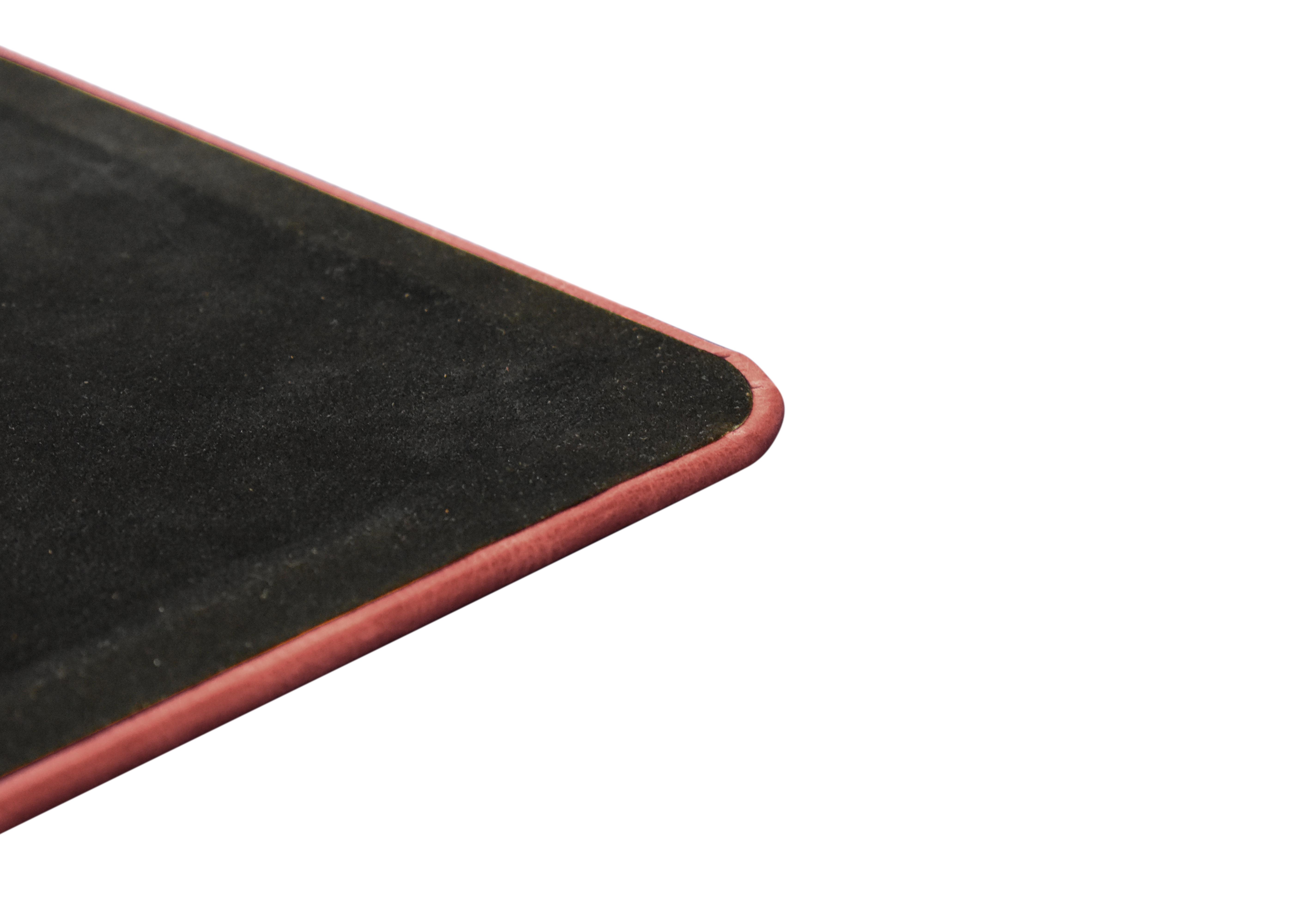 Red Leather Desk Pad Vintage Distressed Genuine