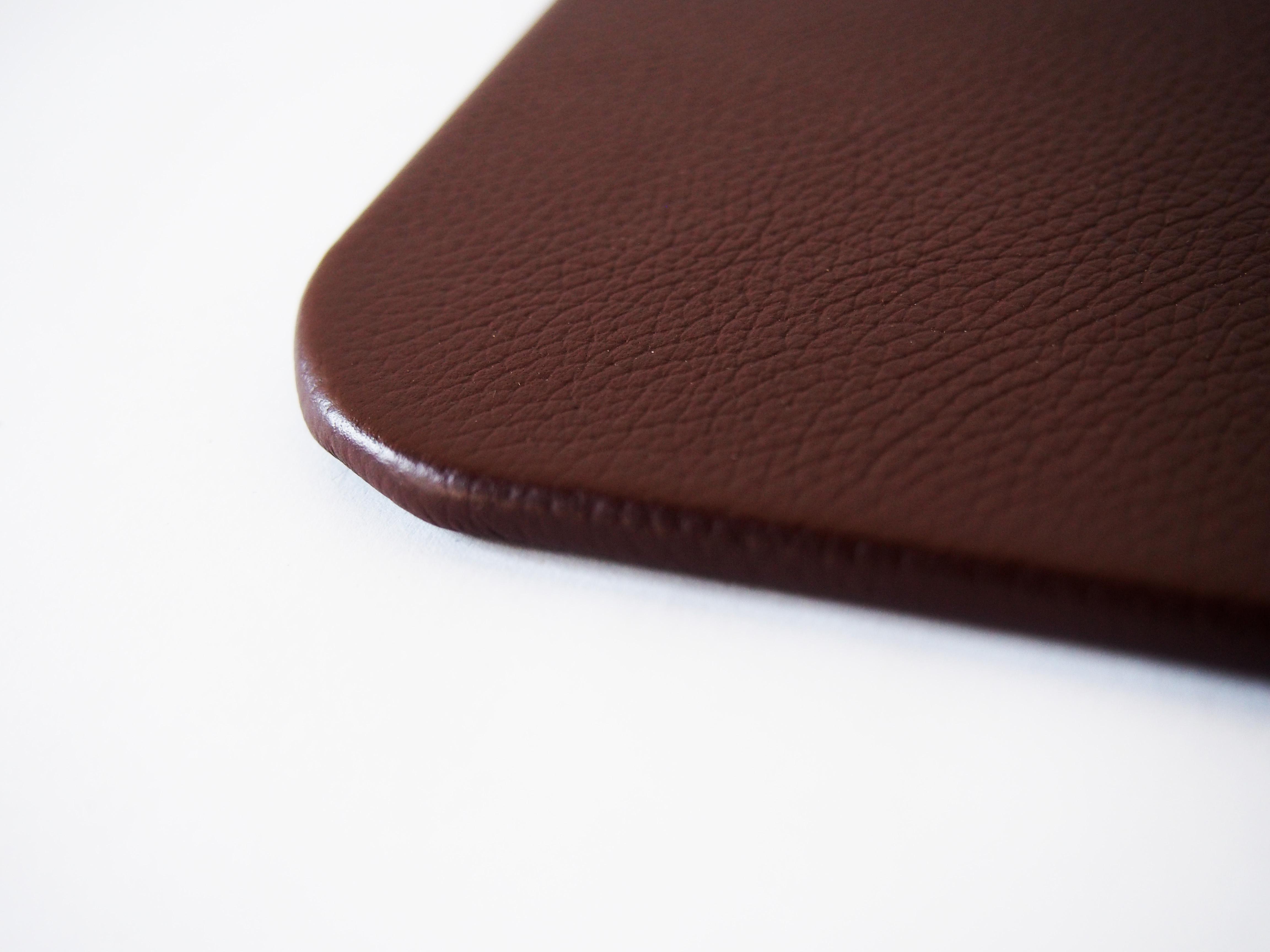 Brown Leather Desk Pad Genuine Top Grain Leather