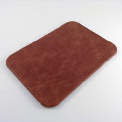 Garnet Antiqued Leather Desk Pad