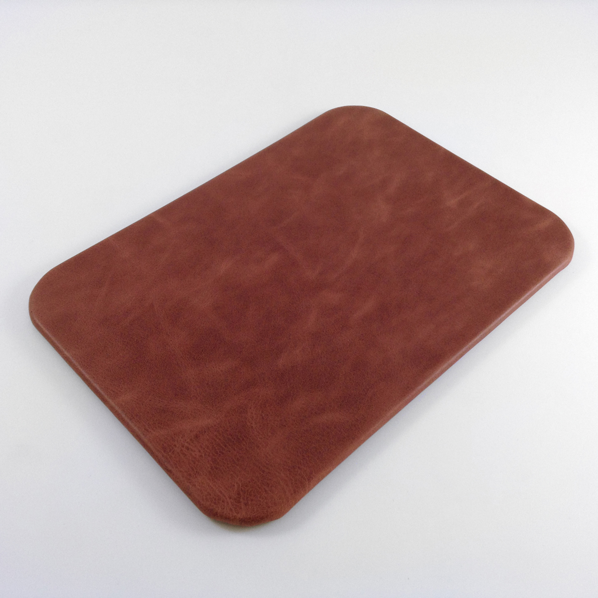 Red Vintage Leather Desk Pad Distressed Genuine Leather