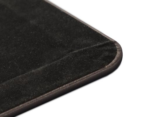 Black Vinyl Desk Pad Hand Wrapped Vinyl Blotter