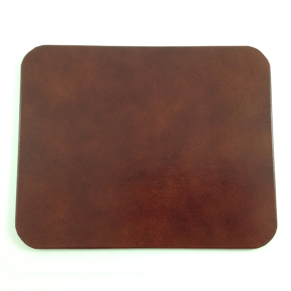 brown glazed leather desk pad genuine leather with glossy. Black Bedroom Furniture Sets. Home Design Ideas