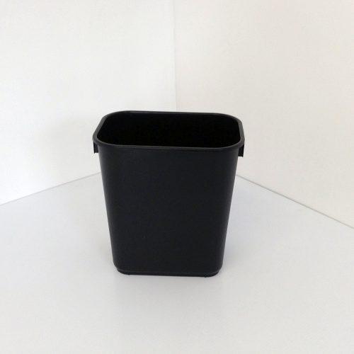 Small Black Plastic Wastebasket
