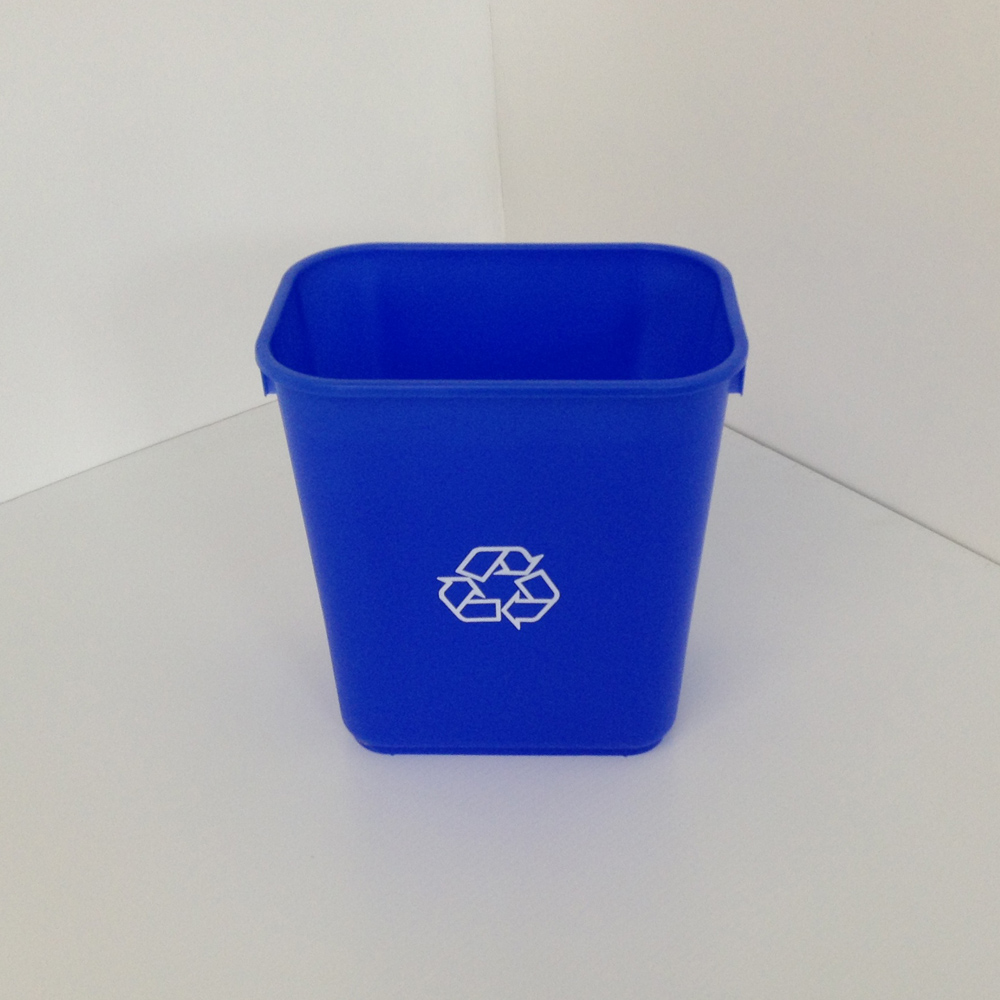 Small Blue Recycling Bin Soft Plastic Prestige Office