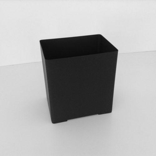 Black Metal Rectangular Wastebasket