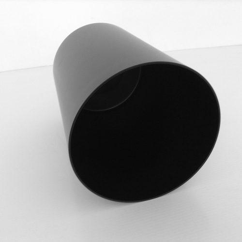 Black Plastic Fire-Safe Wastebasket Top
