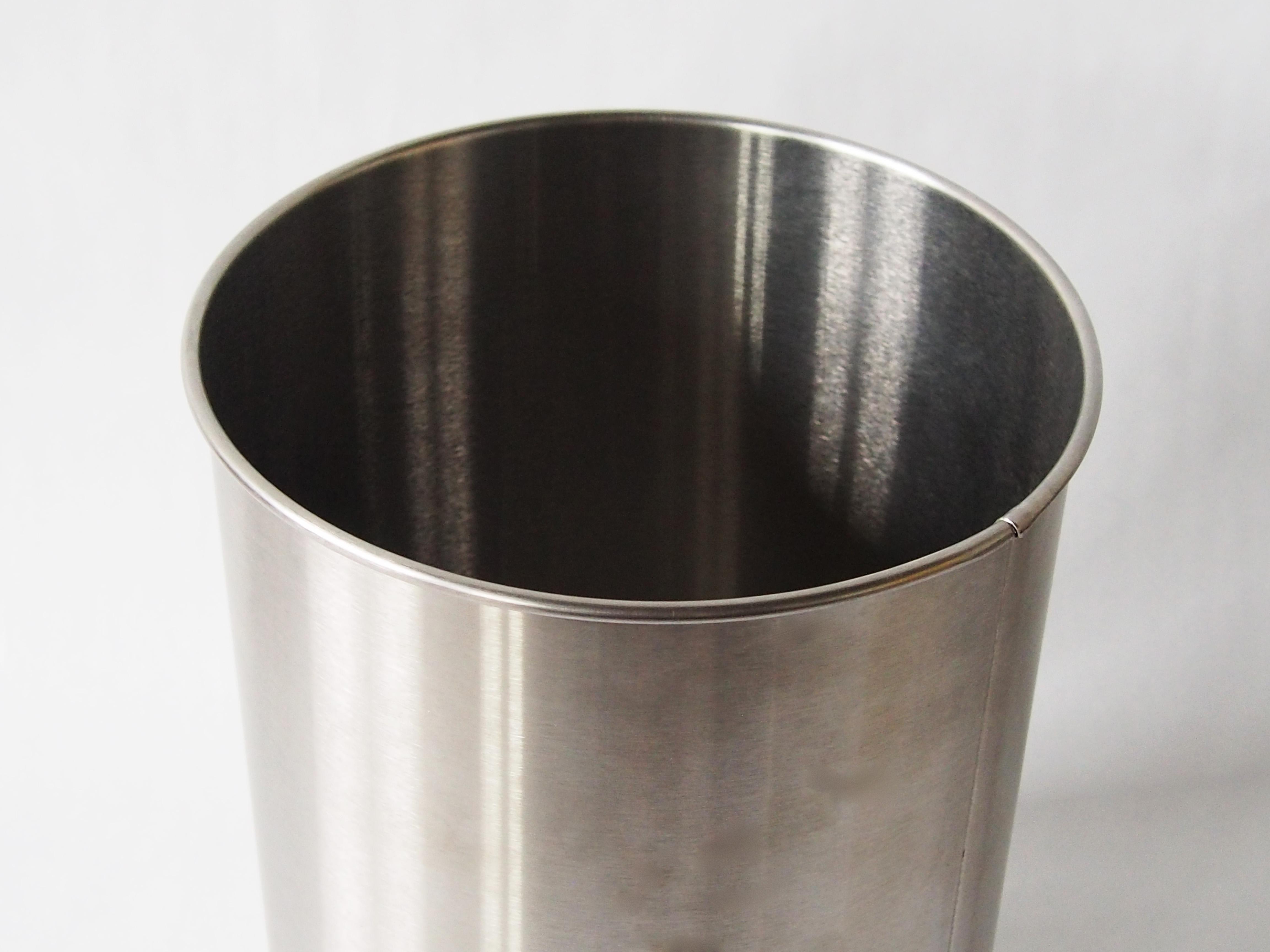 Brushed Stainless Steel Wastebasket Prestige Office