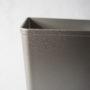 17.1 qts. Silver Self-Extinguishing Plastic Wastebasket