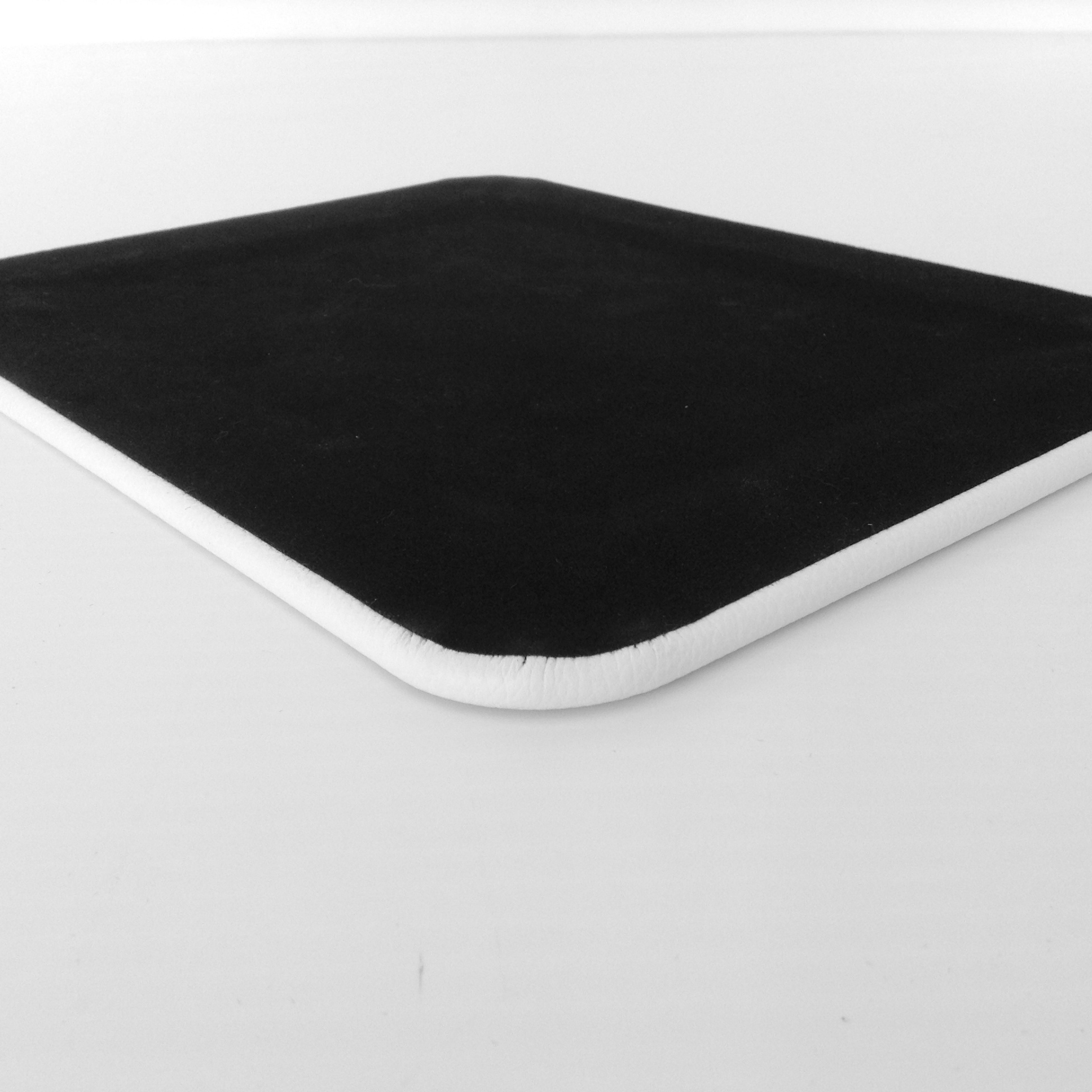 White Leather Desk Pad Back