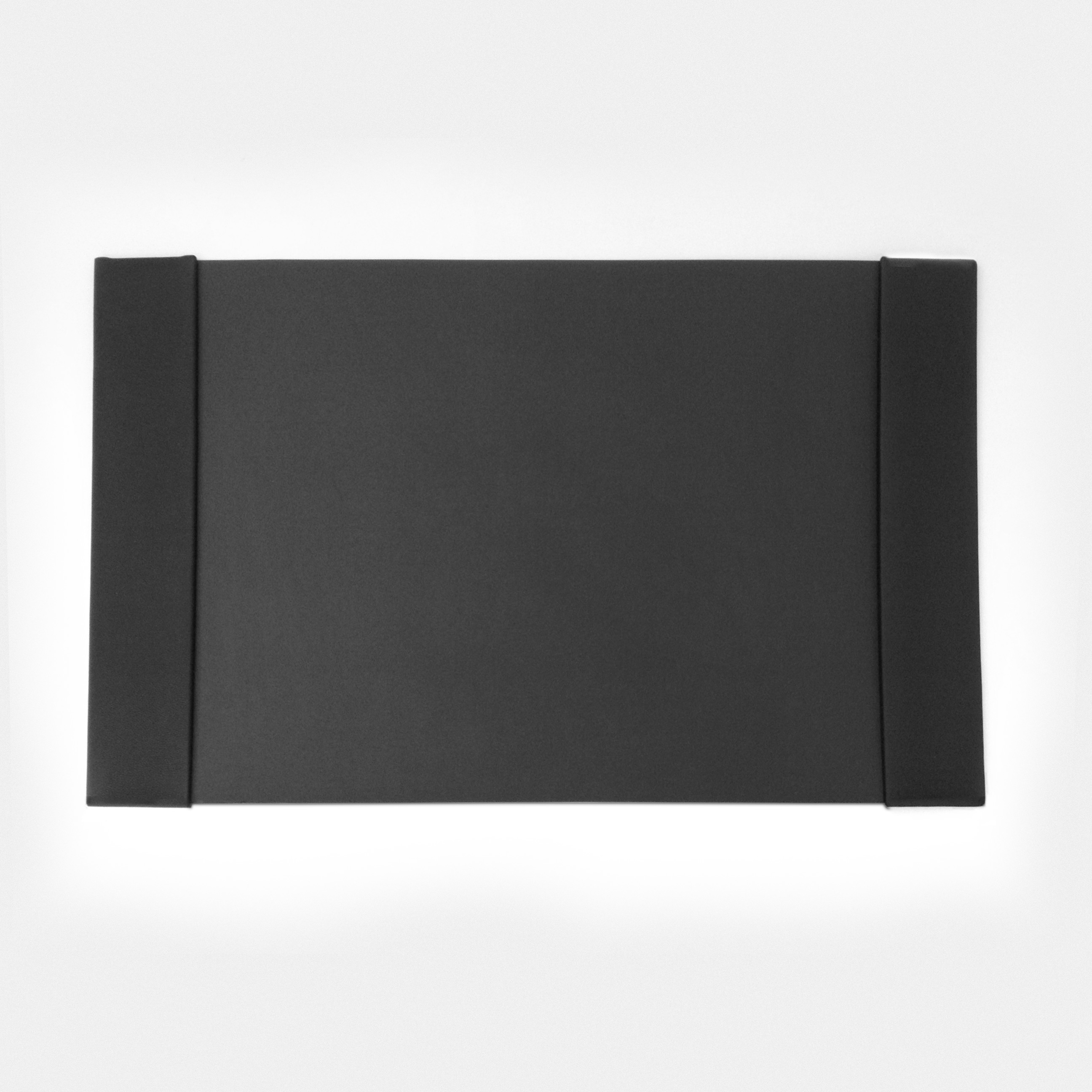 Desk Pad with Classic Grained Black Leather Side Rails