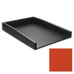Carrot Orange Leather Letter Tray