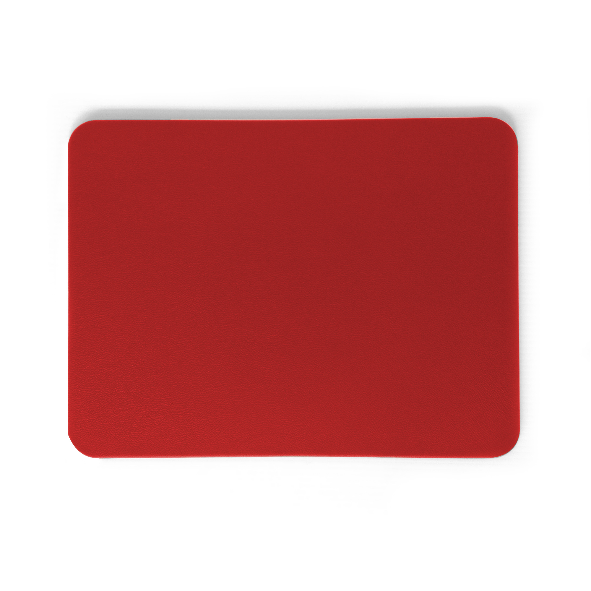 Classic Rosa Red Leather Desk Pad