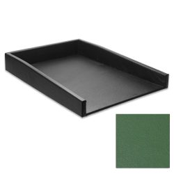 Evergreen Leather Letter Tray