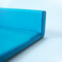 Turquoise Leather Letter Tray