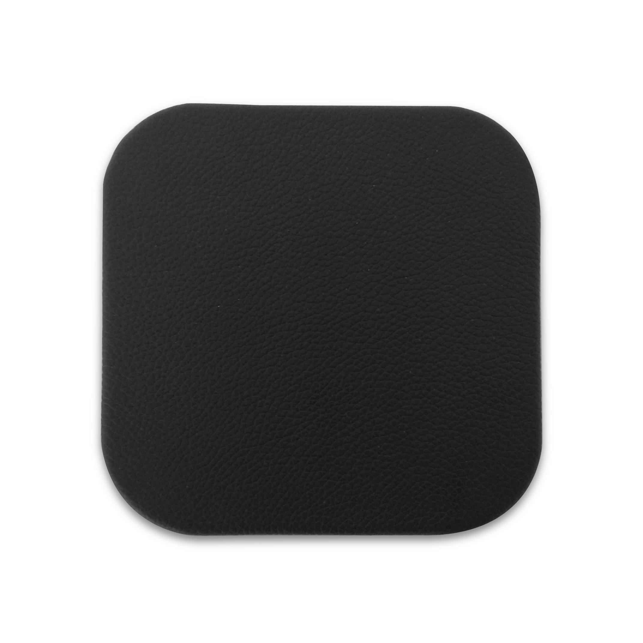 Black leather coaster