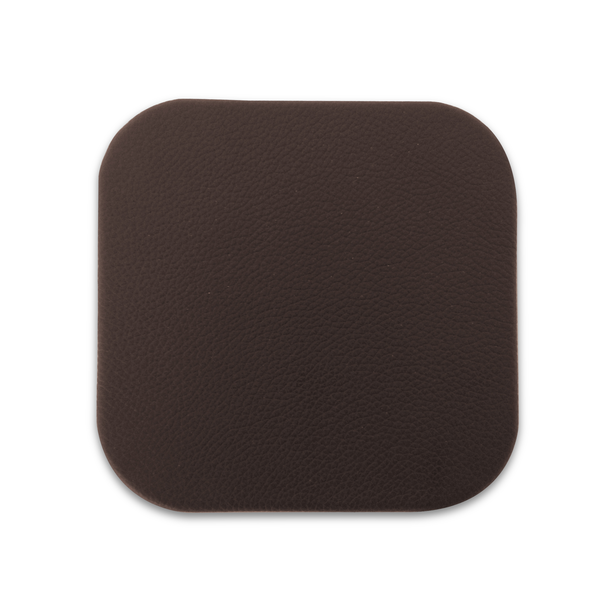 Dark Brown Leather Drink Coasters Sets Individual