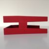 Red Executive Leather Letter Tray Side 2
