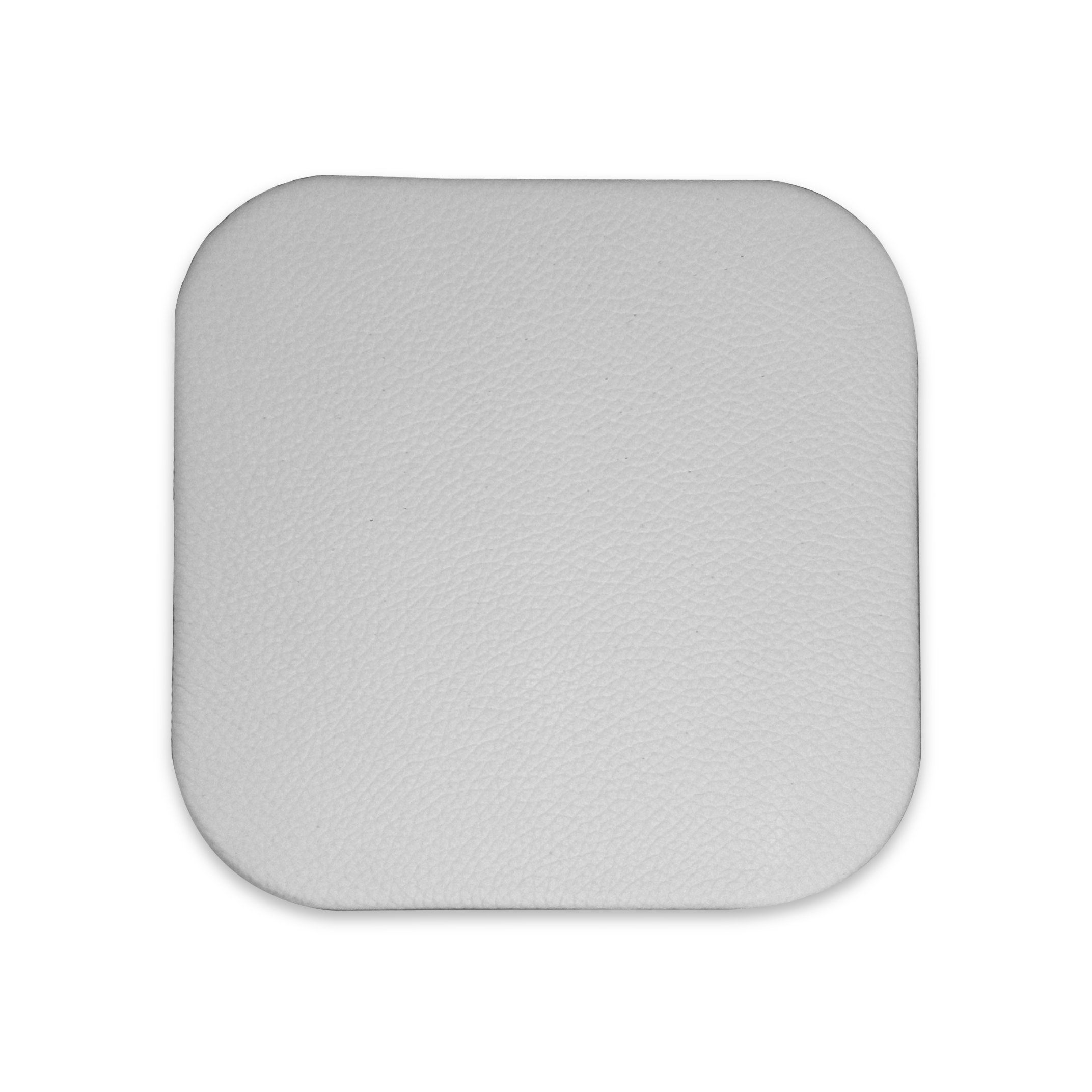 White Leather Drink Coasters Luxury Design For Executive