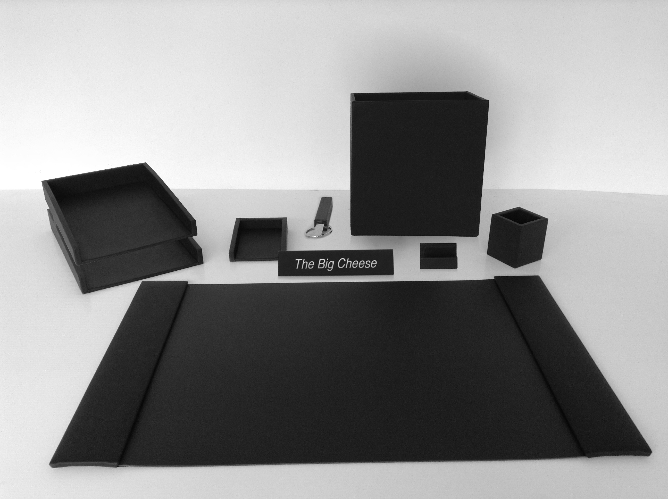 The Big Cheese Leather Desk Set Prestige fice Accessories