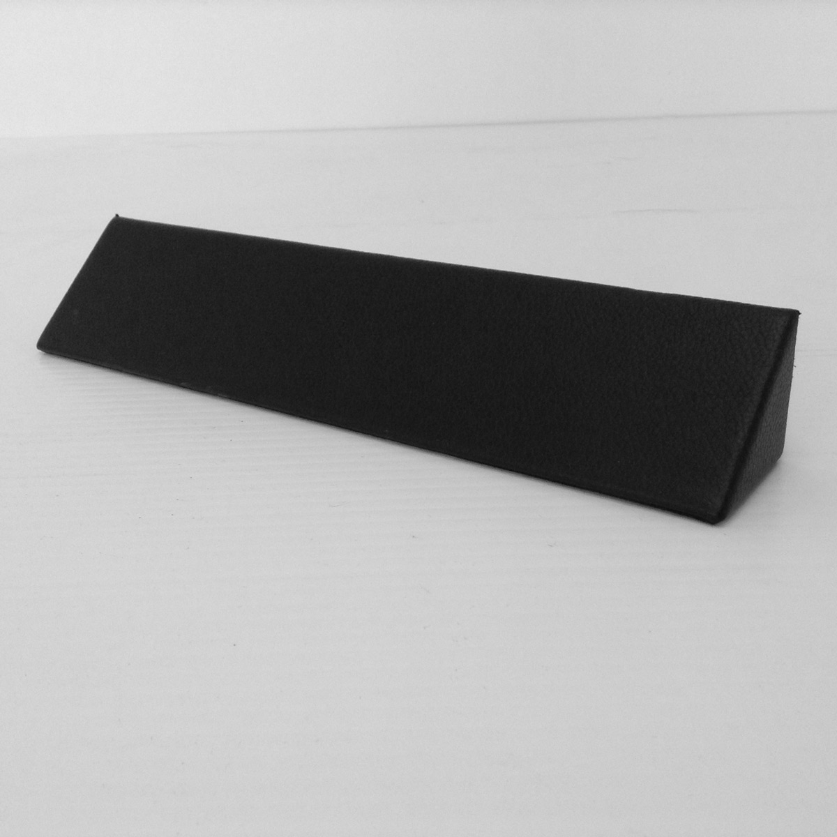 Black Leather Name Plate