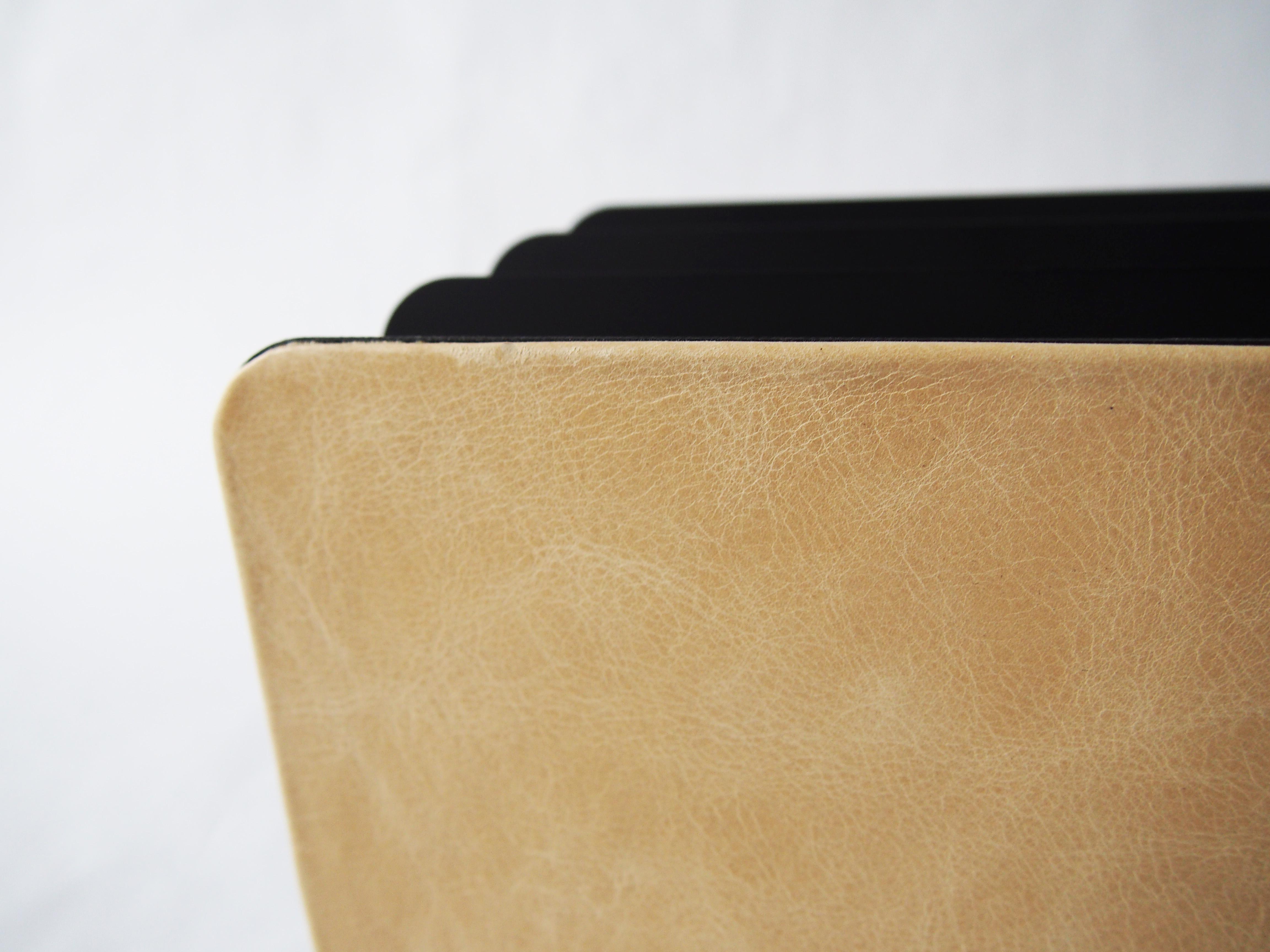 Distressed Leather Vertical File Mail Sorter Prestige