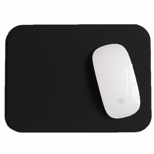 Economy Black Leather mouse pad
