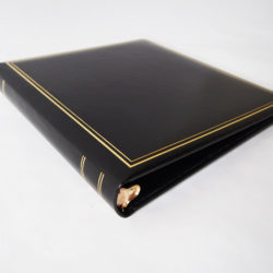 LEATHER WRAPPED 3 RING PHOTO ALBUM