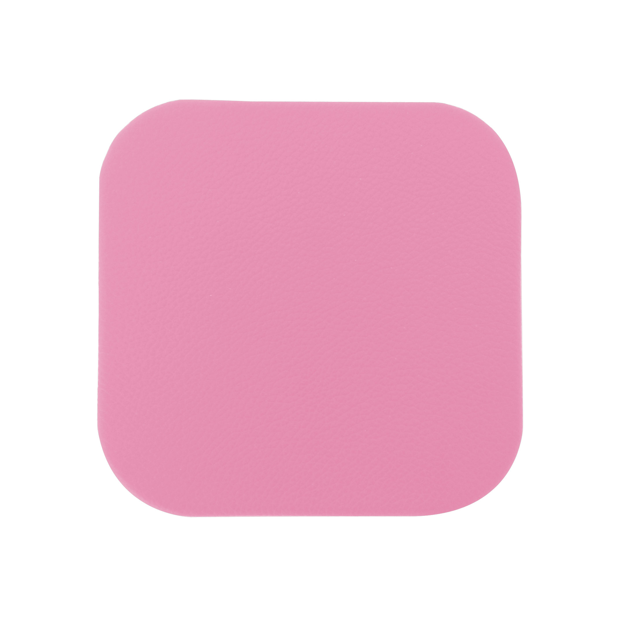 Pink Leather Drink Coasters Individual Coaster Sets For
