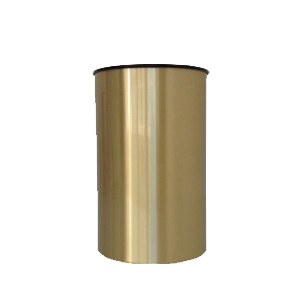 Brass Wastebasket with Satin Finish