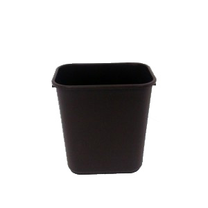 Medium Brown Plastic Recycling Bin