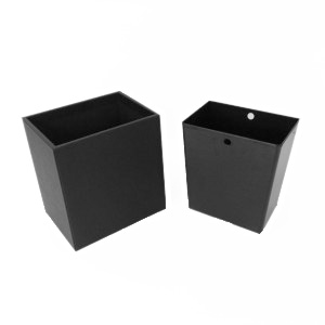 Rectangular Leather Wastebasket