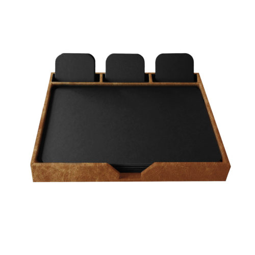 Distressed Leather Conference Set