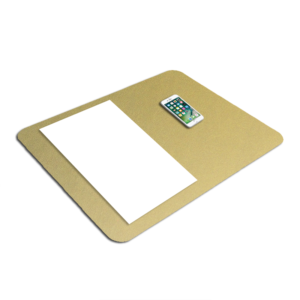 Light Gold Metallic Desk Pad