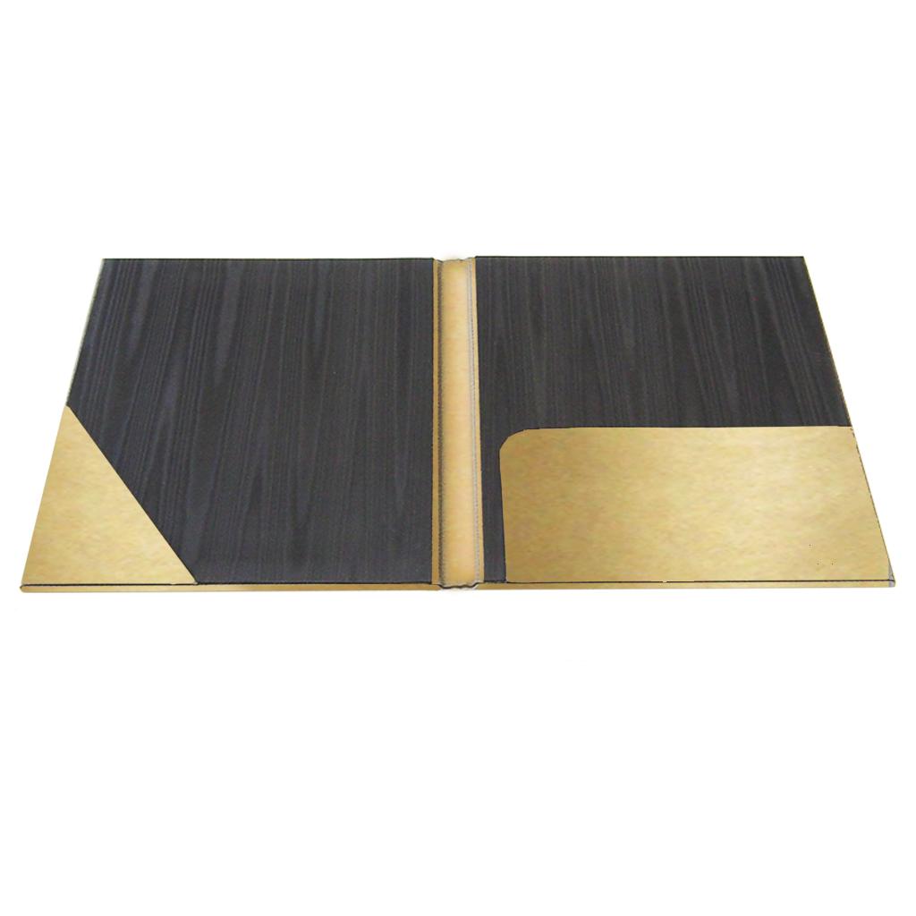 metallic faux leather folder  professional pocket folder