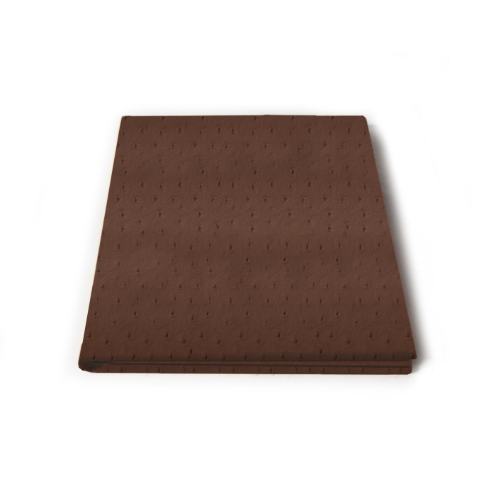 faux ostrich leather presentation folder  professional