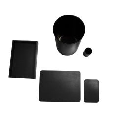 Black_Glazed_Deskset-5Piece
