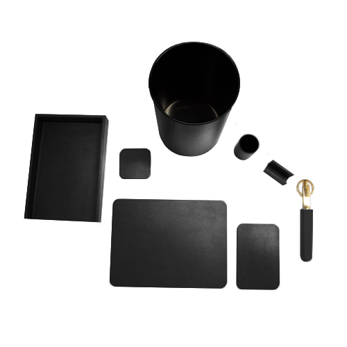 Black_Glazed_Deskset-8Piece