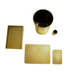 LightGold_Metallic_Deskset-5Piece