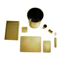 LightGold_Metallic_Deskset-8Piece