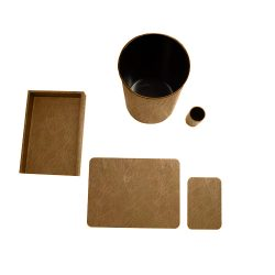 Pecan_Distressed_Deskset-5Piece